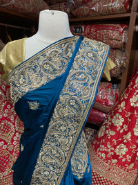 Teal Blue Saree PWS-056