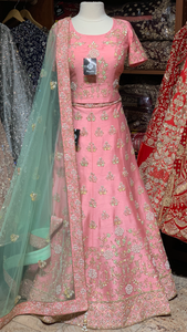 Pink Pearl Size 38 Embroidery Lehenga