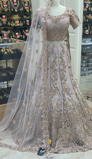 Blush Size 38 Bridal Lehenga With Train