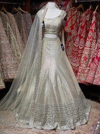 Beige Gold Bridal Wear Lehenga BWL-063