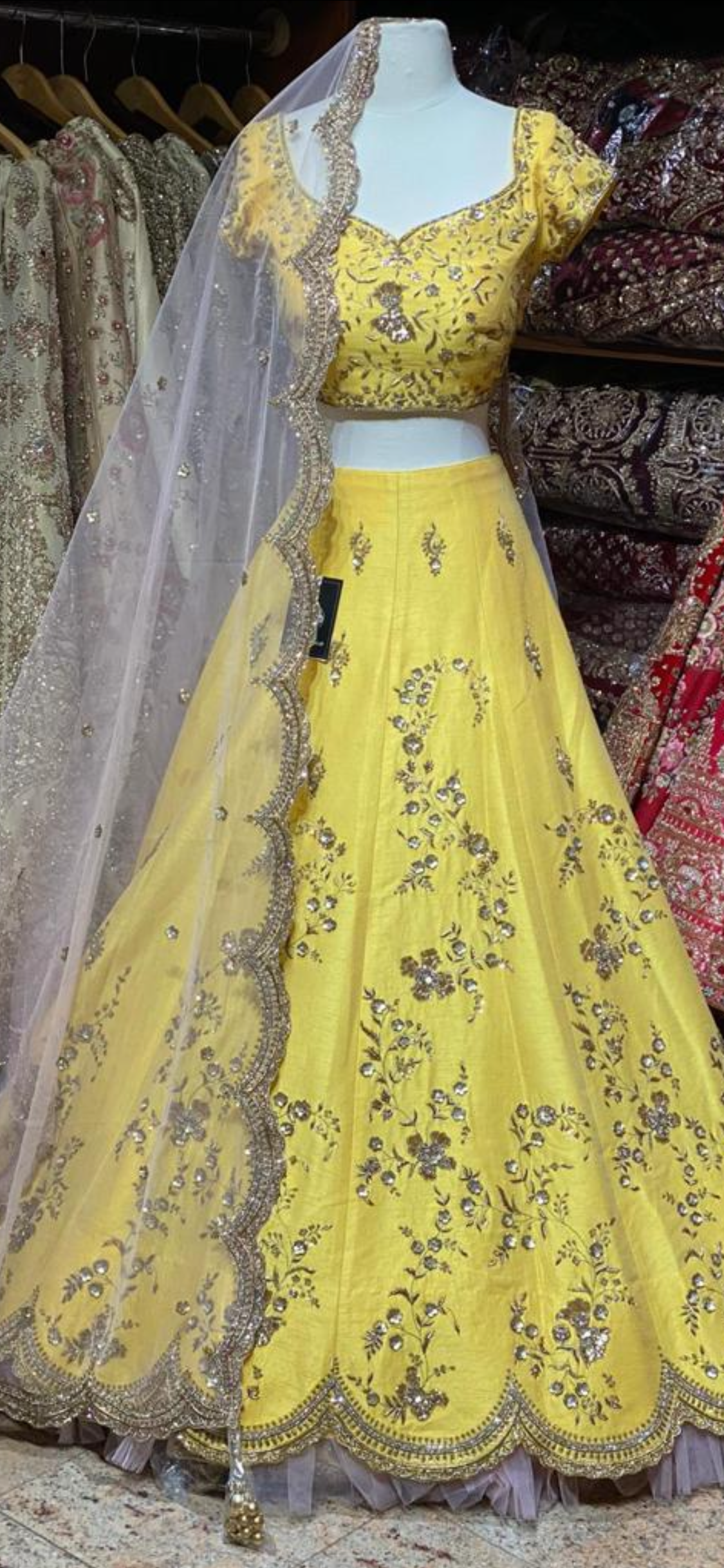 Sunset Yellow Bridal Wear Lehenga BWL-049