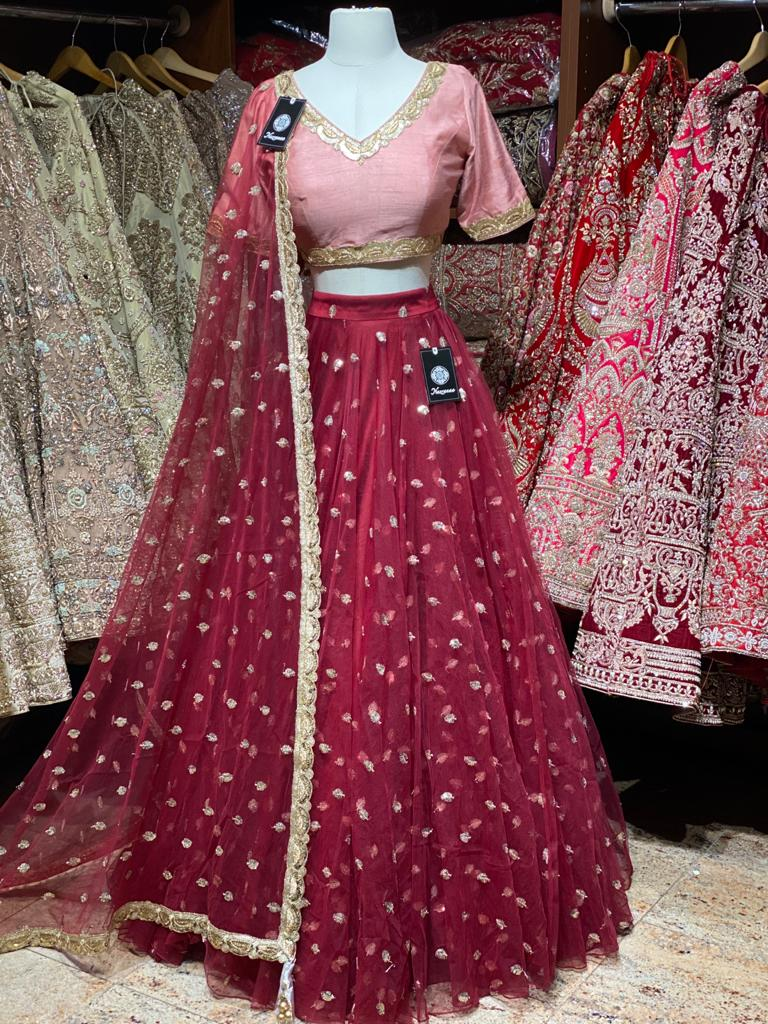 Crimson Red Bridesmaids Lehenga BML-002
