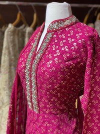 Hot Pink XXL Anarkali PWA-018