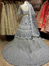 Seared Grey Bridal Wear Lehenga BWL-003