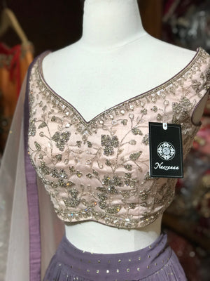 The Black Berry Lehenga-PW55