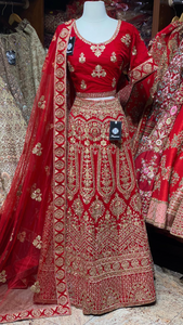 Persian Red Party Wear Lehenga PWL-010