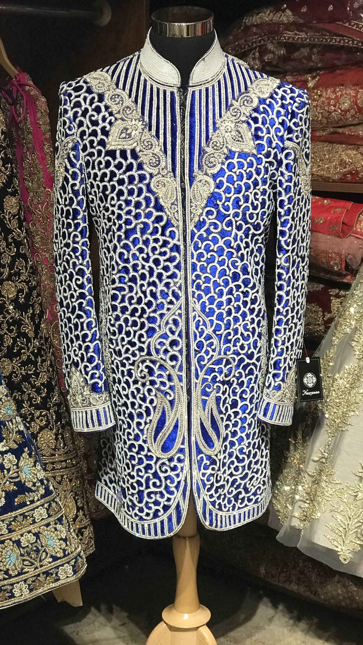 Royal Blue Maharajah Sherwani