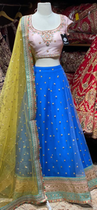 Azure Blue Party Wear Lehenga PWL-109