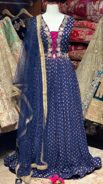 Navy Anarkali Gown