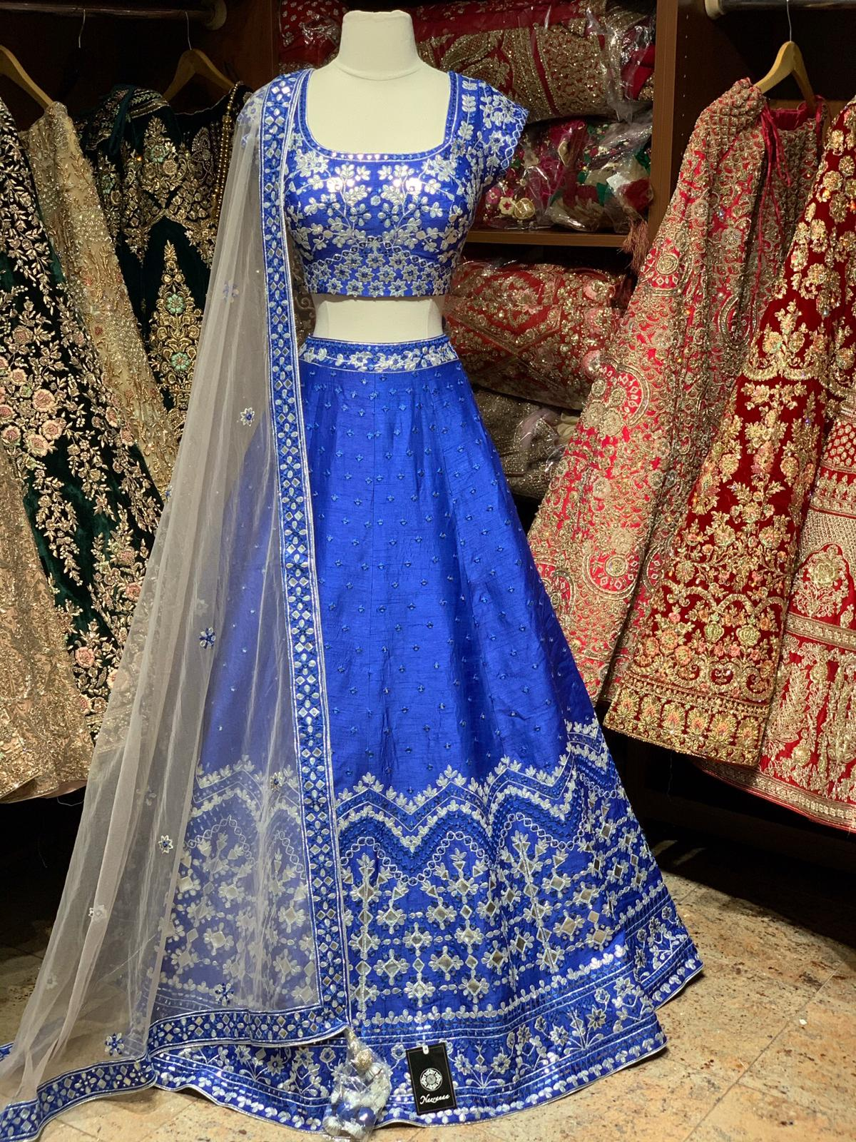 Spanish Blue Party Wear Lehenga PWL-069