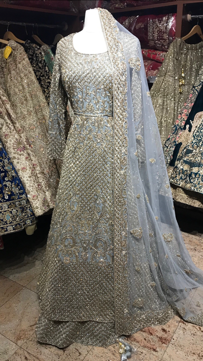 Grey Bridal Lacha