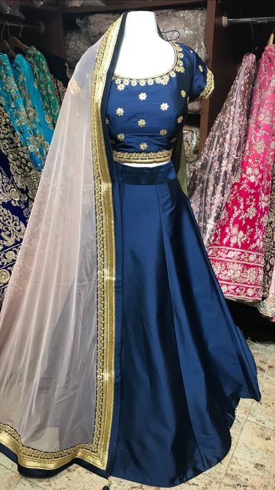 Navy Blush Bridesmaids Lehenga