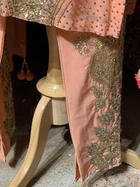 Peach Size 38 Straight Suit