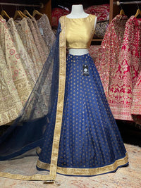 Space Blue Bridesmaids Lehenga BML- 001
