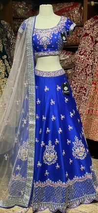 Royal Blue Bridal Wear Lehenga BWL-078