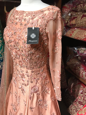Peach Size 38 Silk Gown