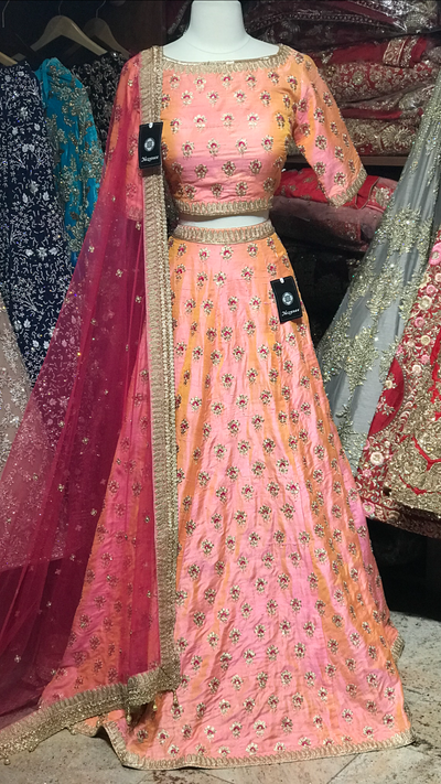The Rosey rose lehenga-PW14