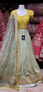 Honeydew Green Party Wear Lehenga PWL-120