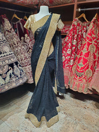 Jade Black Saree PWS-031