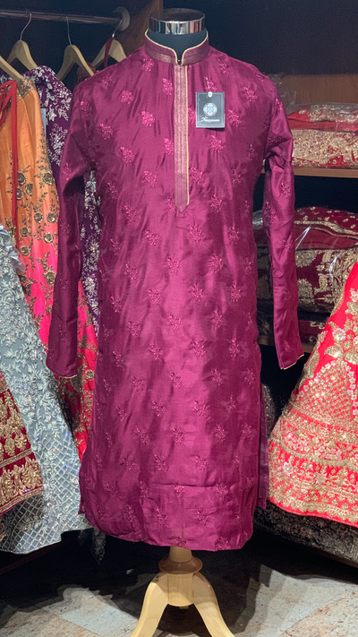 Purple Kurta Pajama