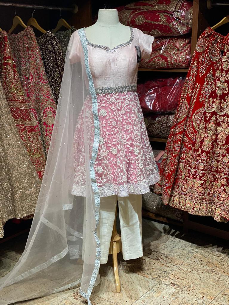 Rose Pink Party Wear Suit Collection PWS-047
