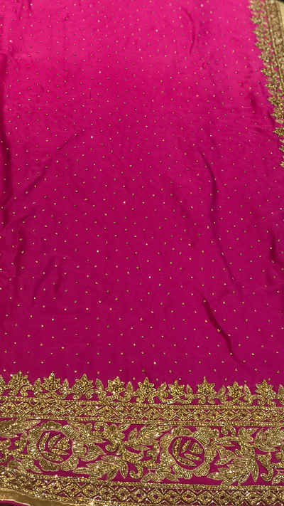 Ombré Purple Crepe Saree