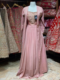 Dusky Rose Party Wear Suit Collection PWS-053