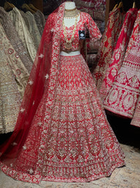 Emperor Red Silk Bridal Wear Lehenga BWL-039
