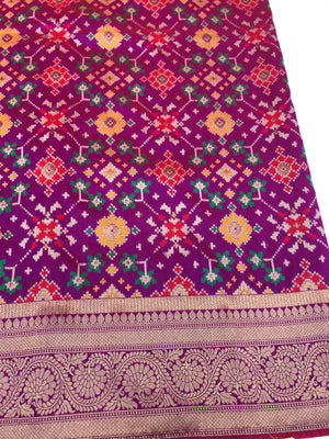 Purple Art Banarasi Saree