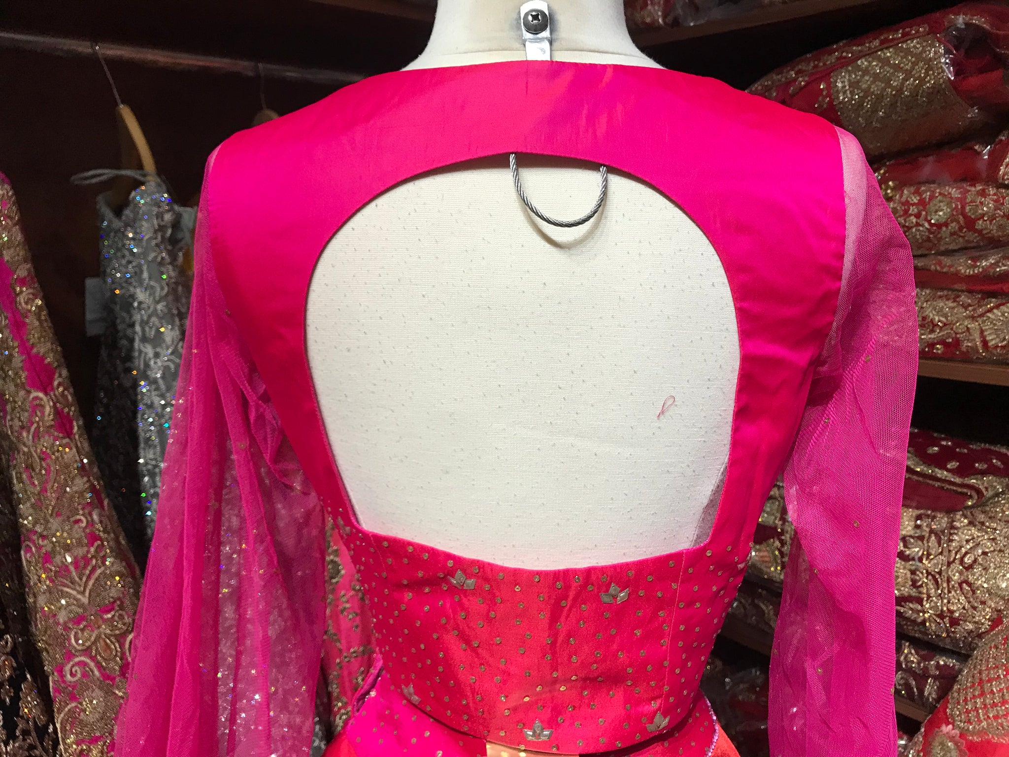 Pink Orange Size 38 Lehenga