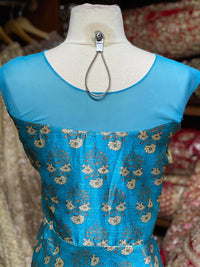 Deep Sky Blue XXL Anarkali PWA-012