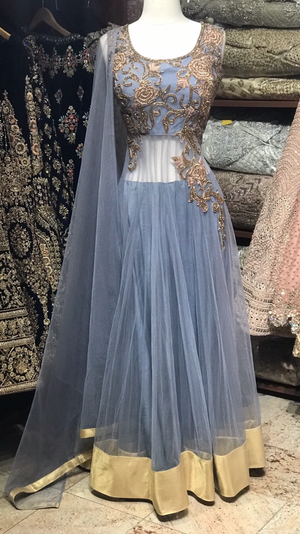 Grey Bridesmaids Anarkali