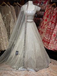 Jasmine White Bridal Wear Lehenga BWL-055