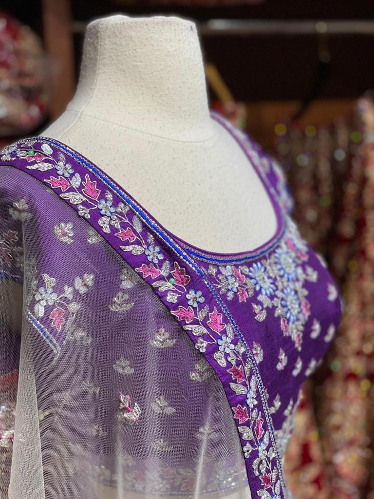 Violet Purple Party Wear Lehenga PWL-083