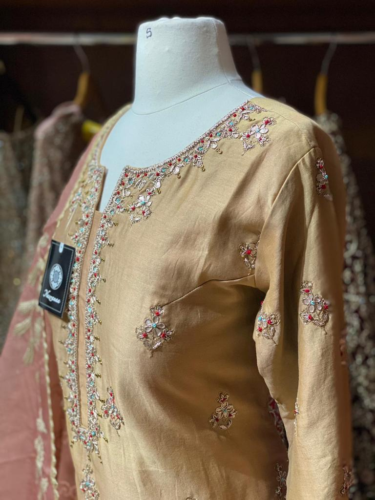 Camel Brown Party Wear Suit Collection PWS-022
