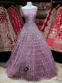 Glorious Rough Pink Gown PWG-010