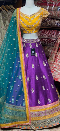 Violet Purple Party Wear Lehenga PWL- 038