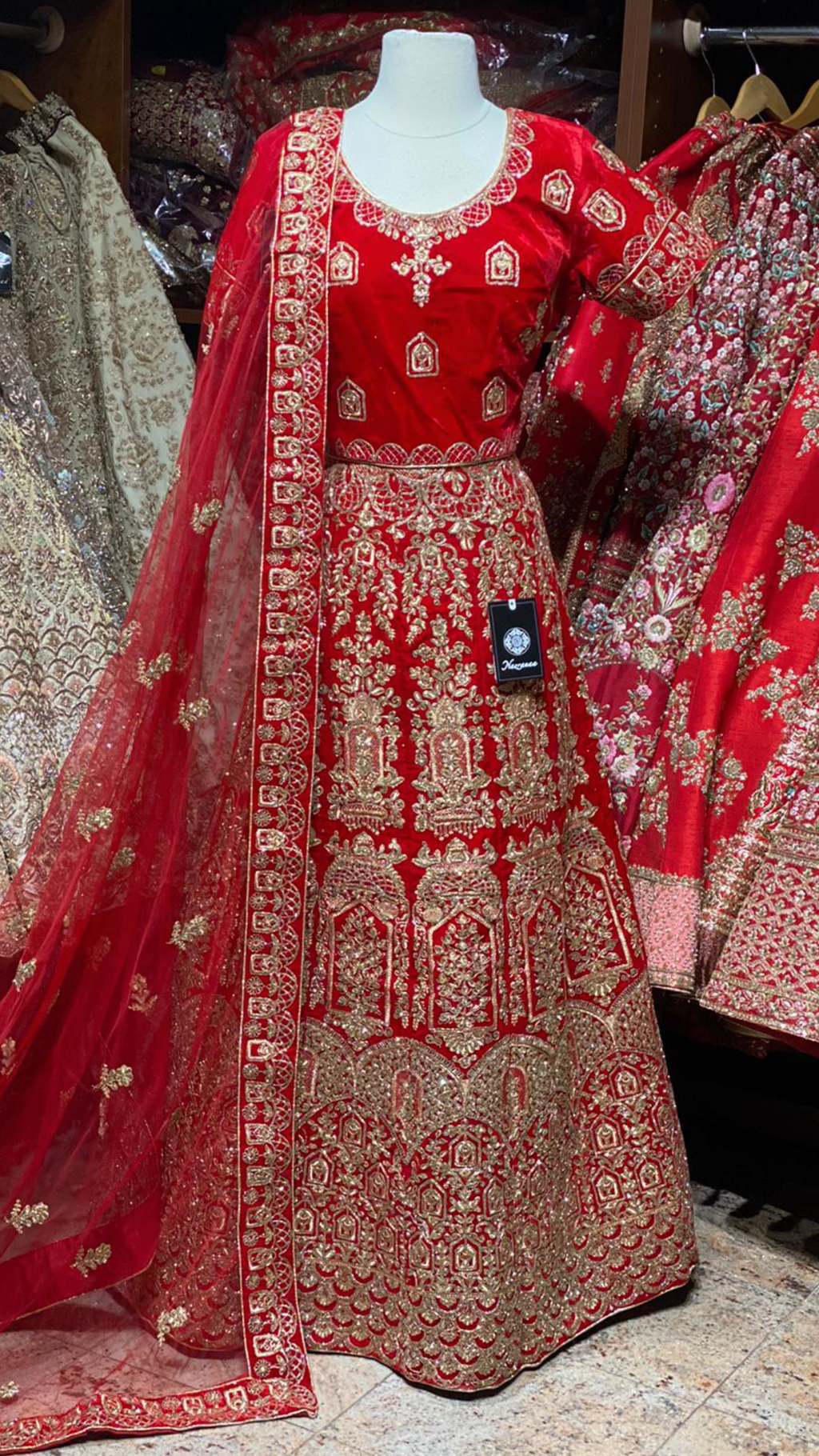 Imperial Red Party Wear Lehenga PWL- 011