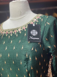 Emerald Green Anarkali PWA-025