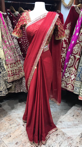 Maroon Bridesmaid's Saree