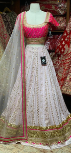 Blush Pink Party Wear Lehenga PWL-088