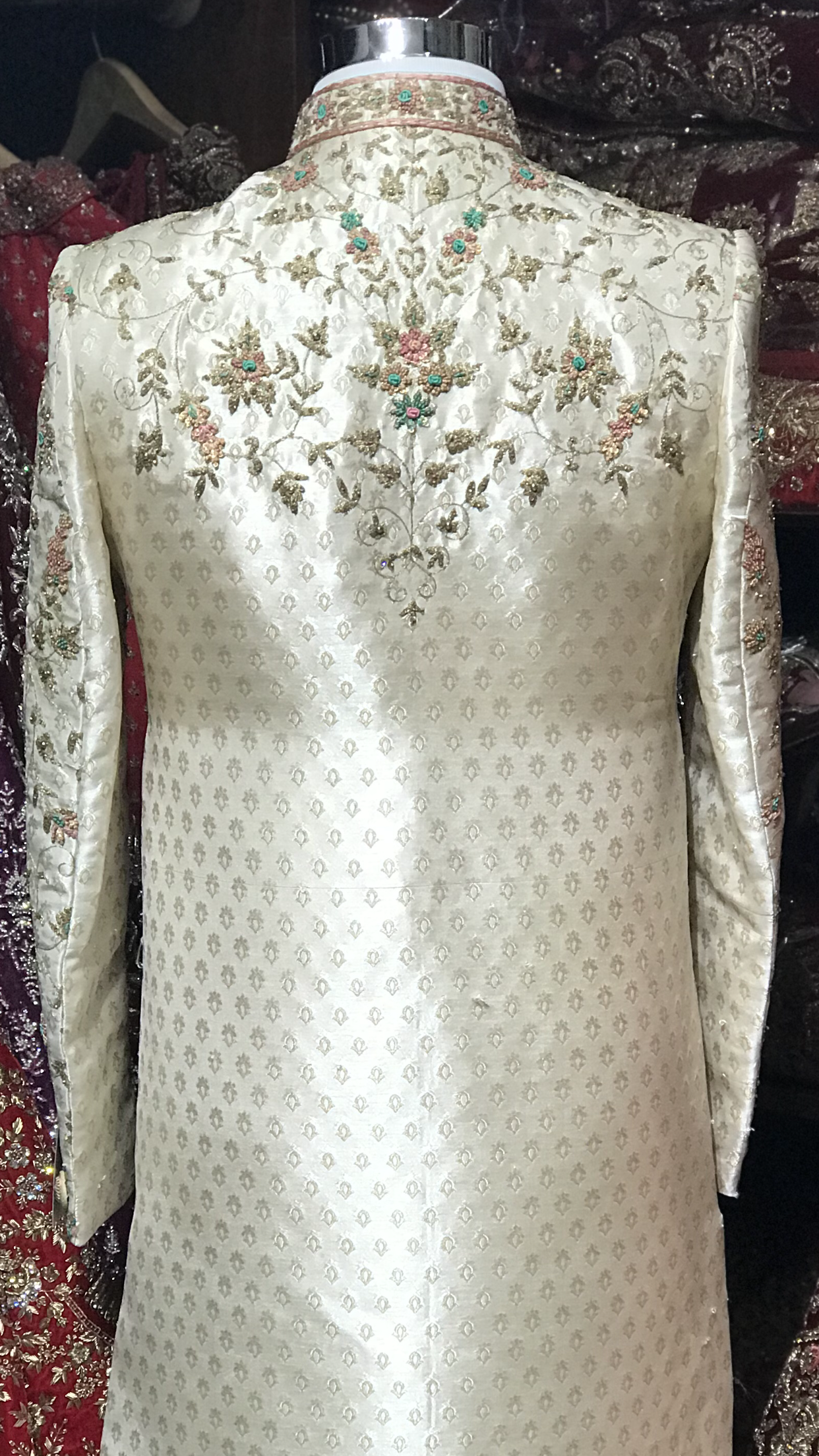 Ivory Multi-Color Sherwani