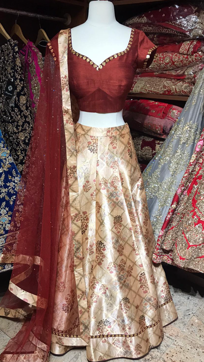 The Retro Bling Lehenga-PW24