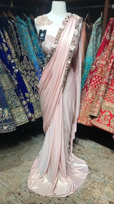 Blush Draped Saree