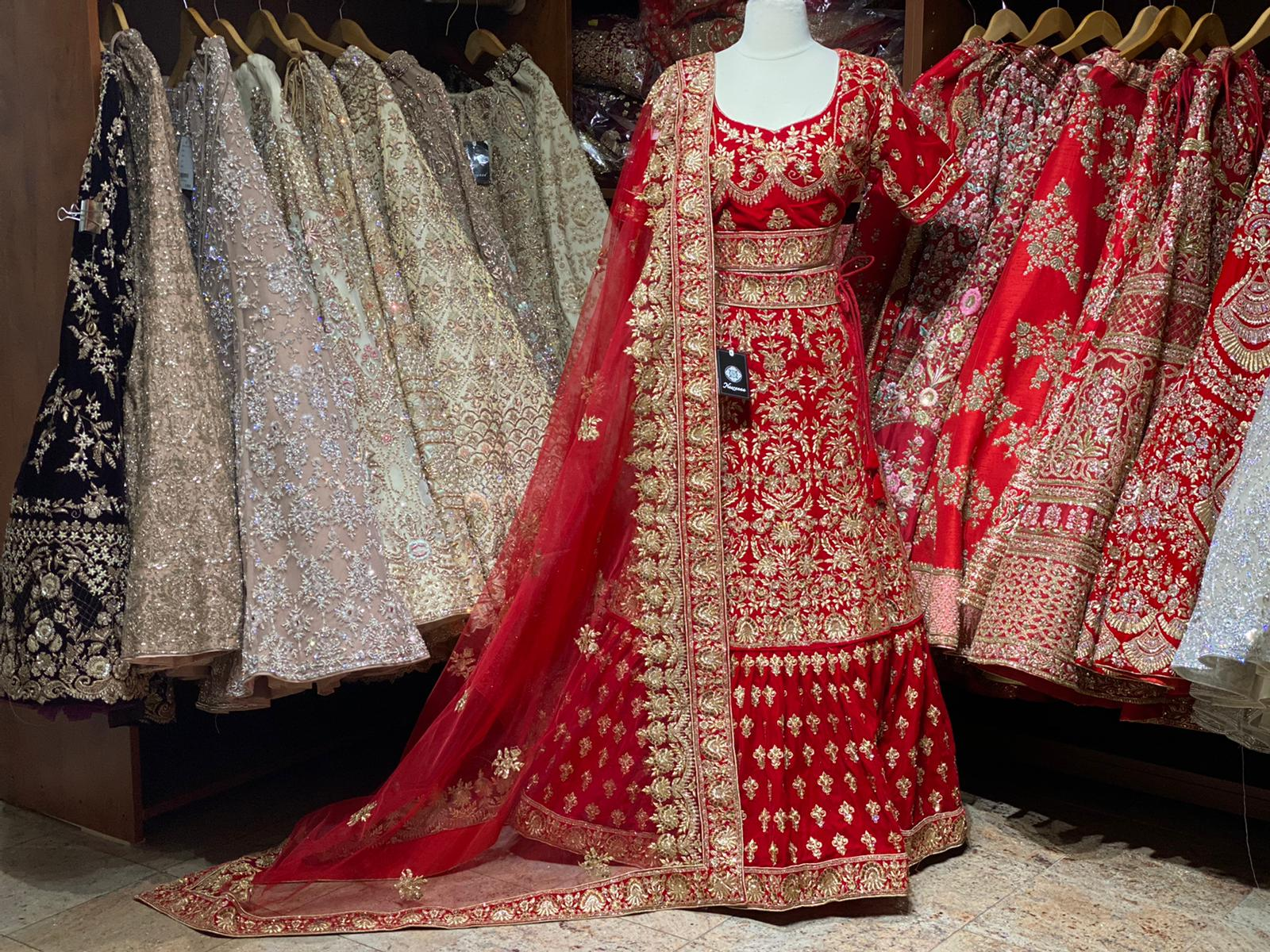 Fire Brick Red Party Wear Lehenga PWL-009