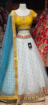 Dove White Party Wear Lehenga PWL-111