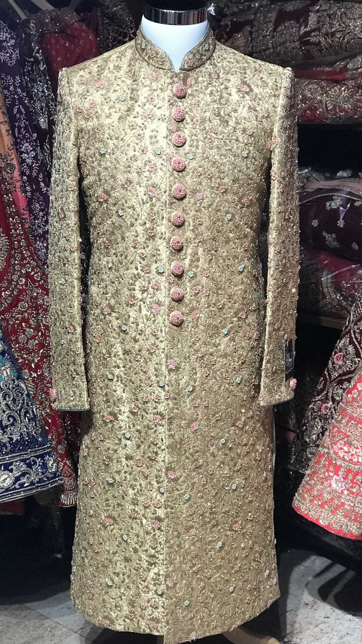 Gold Silk Sherwani