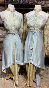 Grey & Gold Bridesmaids Dhoti Suits