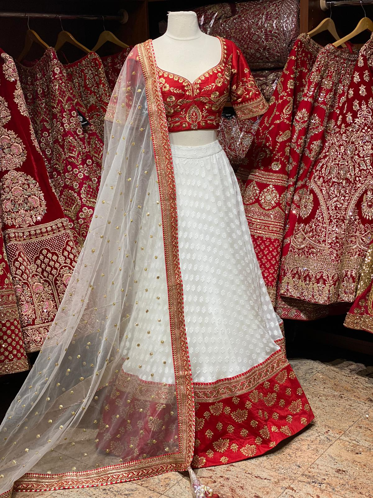 Exclusive Red & White Bridal Wear Collection BWL- 113