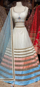 Coconut White Party Wear Lehenga PWL-021